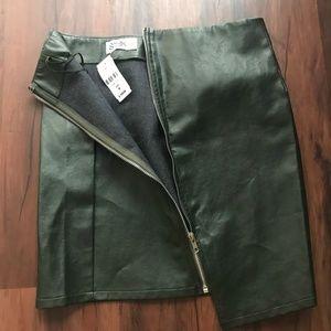 Green LF seek the label asymmetrical zipper skirt